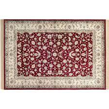tappeto disegno tappeto classic bordeaux crema disegno rettangolare 135 cm