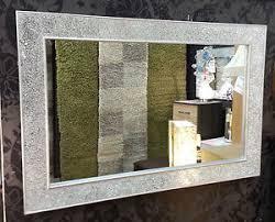 specchi con cornice specchio da parete con cornice argento craquel礬 120x80cm fatto a