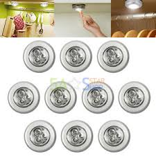 battery operated stick on lights 10pcs 3 led touch push on off light self stick on click battery