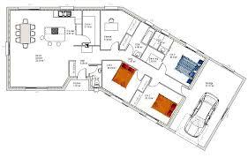 plan de maison en v plain pied 4 chambres supérieur plan de maison en v plain pied 4 chambres 8 maison