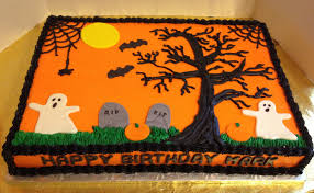 How To Decorate A Cake For Halloween Halloween Graveyard Cake Sheets U2013 Fun For Halloween