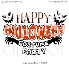 clipart of jackolantern faces with happy halloween costume party
