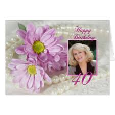 40th birthday wishes greeting cards zazzle co uk