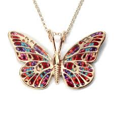 butterfly gold necklace images Gold plated 925 sterling silver butterfly necklace handcrafted jpg
