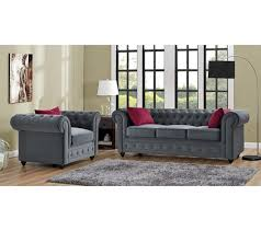 canap chesterfield gris chesterfield 3 places chester tissu gris anthracite canapés but