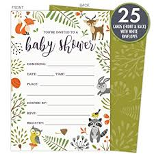 woodland baby shower invitations woodland baby shower invitations with owl and forest