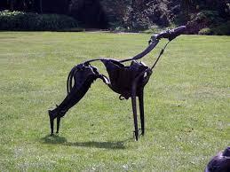 sculpture smokie metal size lurcher sculpture statue by