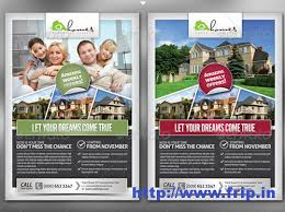 real estate brochure templates psd free pro real estate flyer template dtp ideas real