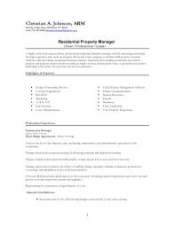 property manager resume assistant property manager resume samples