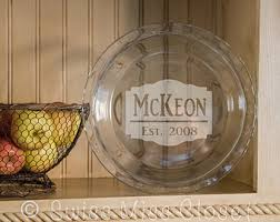 personalized pie plate custom etched pie plate or serving plate