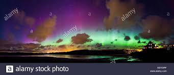 what creates the northern lights a strong solar storm creates a bright display of the northern lights