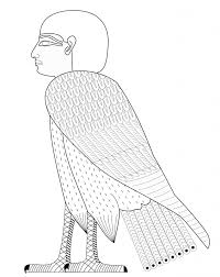 ba bird symbol of soul in anceint free egypt coloring pages