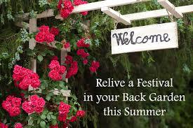 Summer Garden Party Ideas - relive a festival in your back garden this summer dot com women