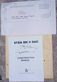 british mk ii smg complete mkii sten gun parts kit u0026 template for