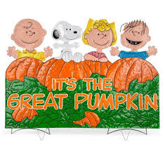 amazon com it u0027s the great pumpkin charlie brown metal outdoor