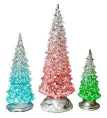 Five Star Holiday Decor Amazon Com Led Lighted Acrylic Christmas Trees Holiday Decoration