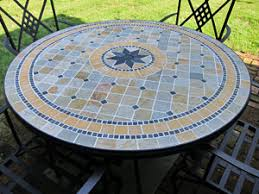 Patio Table Tile Top Outdoor Dining Furniture For The Deck And Patio