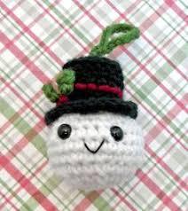 free snowman ornament crochet pattern ideas