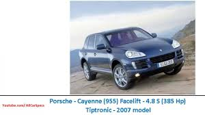 2007 porsche cayenne s porsche cayenne 955 facelift 4 8 s 385 hp tiptronic 2007