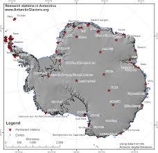 map of antarctic stations antarctica antarcticglaciers org