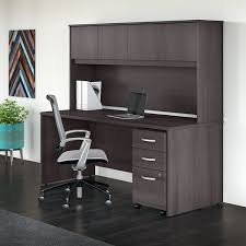 Shop Studio C 72W Office Desk with Hutch and Mobile File Cabinet in