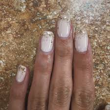 be there in a prosecco opi base shellac polish with a gold glitter