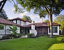 exterior spanish mediterranean house in dallas texas richard