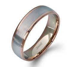 mens gold wedding band simon g engagement rings contemporary modern classic design