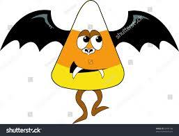 cartoon candy corn halloween bat stock illustration 55791166