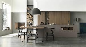 cuisine italienne moderne plan de travail cuisine moderne en et bois