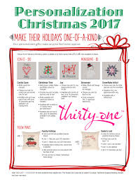 personalization items make your gifts one of a thirty one christmas 2017