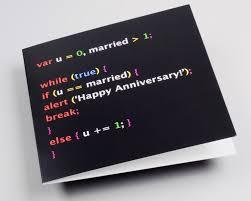 anniversary card geek anniversary geek couple javascript