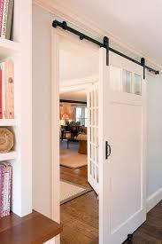 Barn Door Room Divider by Farmhouse Barn Door Hardware Bathroom Rustic With Glass Front