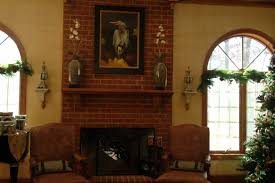 Rustic Home Decorating Ideas Living Room by Rustic Brick Fireplace Mantel All Home Decorations