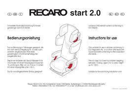 mode d emploi siege auto recaro sport mode d emploi recaro start 2 0 siège auto trouver une solution à