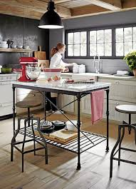 stylish kitchen with cafe design and high stools designing the