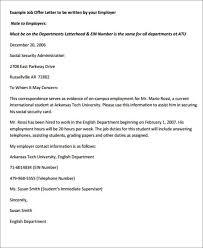 Offer Letter Exle offer letter format city espora co