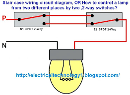 stair case wiring circuit diagram or how control lamp places