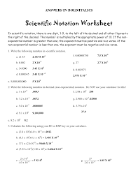 electric scientific notation worksheet calculations involving doc