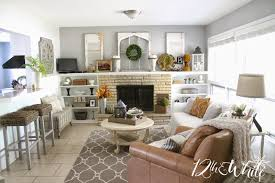 Fall Living Room Ideas by 12th And White Our Fall Hearth Room