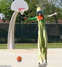 stilts clown clown on stilts basketball pictures freaking news