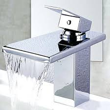 Contemporary Faucets Modern Black Bathroom Sink Faucet Blossom Single Handle Waterfall