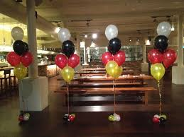 seven balloon arrangements for a german bier house in the cbd