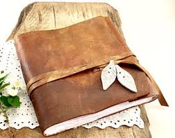 leather guest book leather guest book etsy
