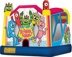 yo gabba gabba bounce house blue balloon parties