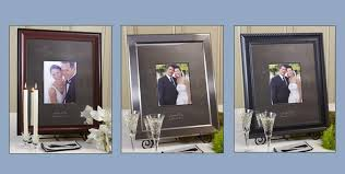 engravable wedding guest book personalized engraved wedding guest book signature frame mat