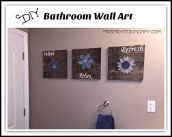 bathroom artwork ideas diy bathroom wall string to add a pop of color hometalk