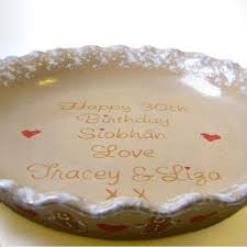 personalized pie plate ceramic gingerbread pie dish personalized pie plate gingerbread