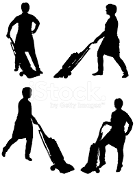 Vaccuming Silhouette Maid Vacuuming With A Vacuum Stock Photos Freeimages Com