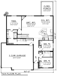 ranch style house plan 3 beds 2 00 baths 1660 sq ft plan 70 1162